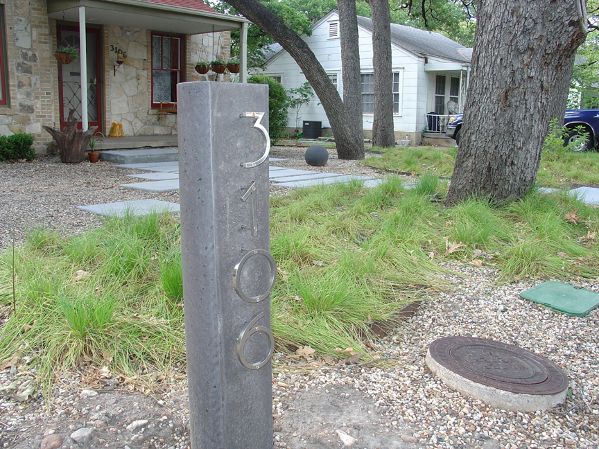 concrete address marker