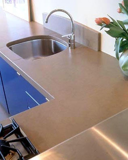Countertop Material For Commercial Kitchen : Concrete Cafe Table Tops ? Custom made to any shape, size or Color