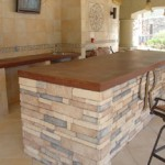 outdoor concrete countertop austin
