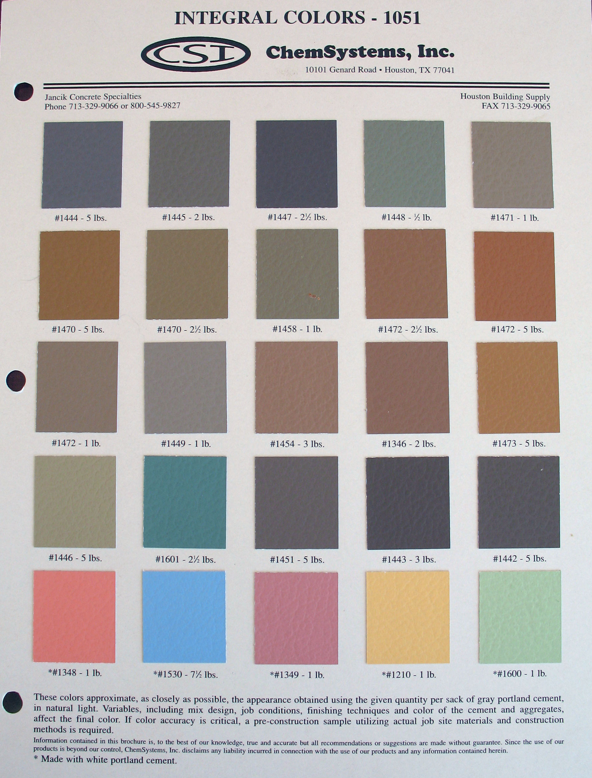 Quikrete liquid cement color chart gallery chart graphic for Cheng concrete colors