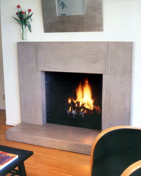 concrete fireplace surround