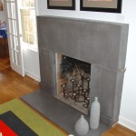concrete fireplace surround and hearth