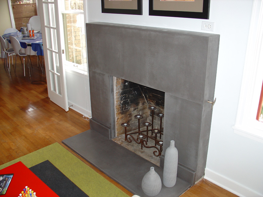 Concrete Countertops Austin Texas - Fireplace Surrounds Hearths