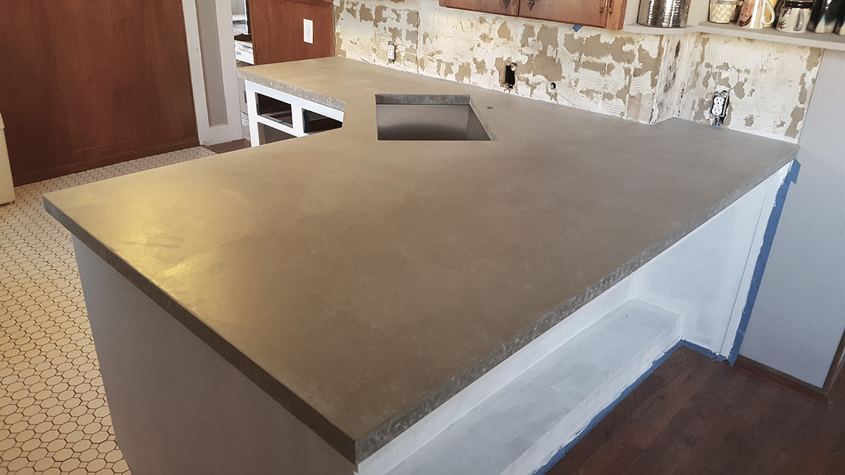 concrete counters to a how laminate poured diy of countertop form make over us forms