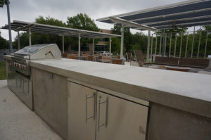 austin cement countertop outdoor kitchen