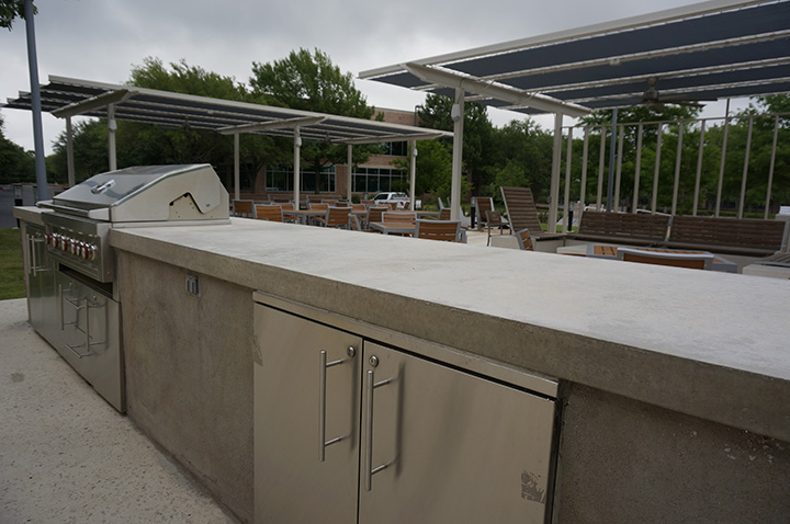 Cement Countertop Outdoor Kitchen