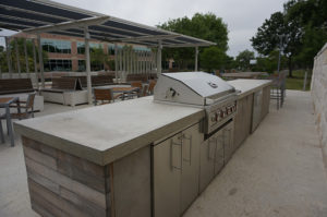 austin outdoor concrete countertop