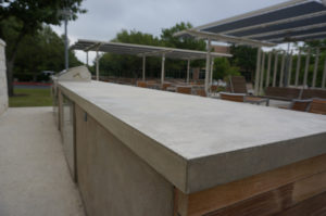 austin outdoor concrete countertops